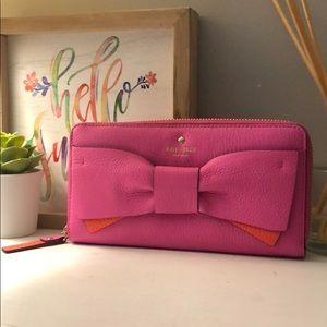 Kate Spade Eden Lane Lacey Wallet — Pink/Orange